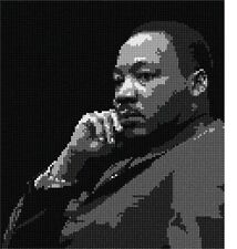 Martin Luther King Jr Needlepoint Kit or Canvas