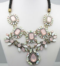 new beautiful Occident Style Flowers multilayer crystal alloy charms necklace