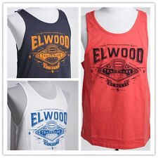 On Sale! Elwood Mens Tank Sleeveless Sport Singlet Tee Vest Top Size S M L XL