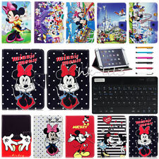 """Universal Bluetooth Keyboard+Cartoon Leather Case Cover For Most 7""""~7.9"""" Tablets"""