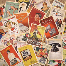 32Pcs Lot Mixed Classic Vintage Retro Advertising Movie Star Poster Postcards