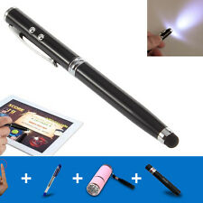 4in1 LED Laser Pointer Torch Touch Screen Stylus Ball Pen for iPhone 5 6 7s iPad