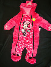 "DISNEY  ""MINNIE MOUSE ""  SOFT & FURRY FLEECE LINED SNOWSUIT NWTS GORGEOUS"