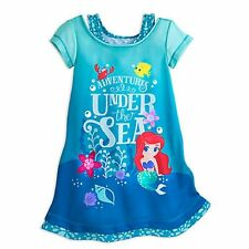 NWT Disney Store 4 5 6 7 8 Ariel Nightshirt Nightgown Princess Little Mermaid