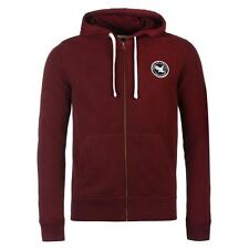 SoulCal Signature Full Zip Hoody Mens Burgundy Hoodie Sweatshirt Jacket