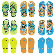Nickelodeon® Turtles Boys Flip Flops Sandals Beach Shoes UK Sizes 18mths - 6yrs