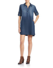 Anthropologie Cloth & Stone Denim Dress Chambray XS S M L Pull Over Shirt Dress