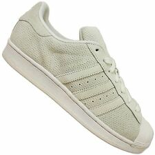 ADIDAS ORIGINALS SUPERSTAR II S79477 TRAINERS SHOES LEATHER GRAY PERFORATED