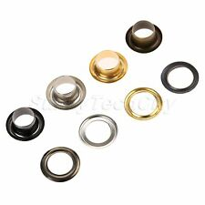 100Pcs 5mm Leather Accessories Through Nuts Hole Hollow Rivets Grommet DIY Craft