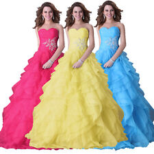 Quinceanera Dress Formal Prom Party Pageant Ball Wedding Bridal Gown Lot Ruffles