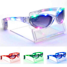 Party LED Light Up Sunglasses Flashing Blink Glow Glasses Party Rave 4 Colors