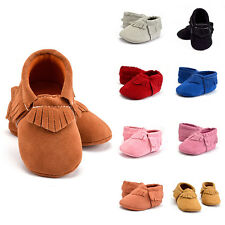 Fashion Tassel Baby Soft Sole Cotton Cloth Shoes Boy Girl Infant Toddler 0-18M