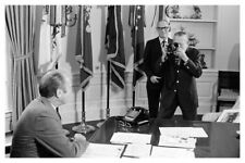 President Gerald Ford In Oval Office White House Silver Halide Photo