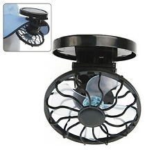 Clip-on Solar Cell Fan Sun Power energy Panel Cooling Cooler Desk Camping  Mini