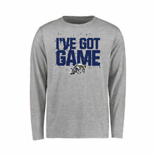 Navy Midshipmen Youth Heather Gray Got Game Long Sleeve T-Shirt - College