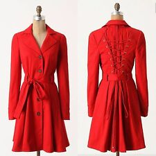 Anthropologie Pansy Corset Trench By Elevenses Sz 4 - RARE!!!