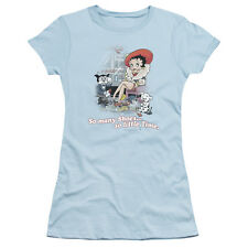Betty Boop SO MANY SHOES, SO LITTLE TIME Licensed Ladies Cap Sleeve T-Shirt