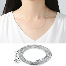 Sterling Silver Italy Chain Necklace Clasps Link Charms Pendant Wedding Jewelry