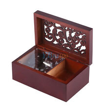 Many Songs!Wood Hollow 18 Note Wind Up Music Box Movement Jewelry Organizer Gift