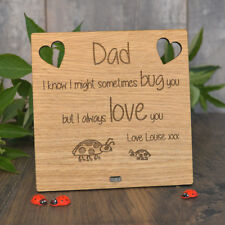 I Love You Daddy Plaque Ladybird Ladybug Fathers Day Sometimes Bug You Cute Sign