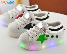 New Children Kids LED Lights Shoes Toddler Boys Girls Casual Shoes Size 5-11