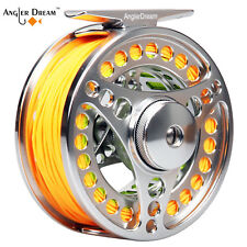 3/4 5/6 7/8WT Fly Fishing Reel And Line Combo CNC Machined Reel &Backing Leader