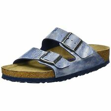 Birkenstock Arizona Jeans Washed Out Blue Birko-Flor Soft Footbed Womens Sandals