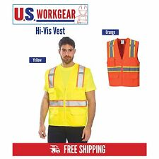 Hi Vis Vest Reflective Executive Work Safety Vest ANSI Class 2, Portwest US372