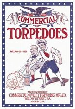 1925 Toy Torpedoes Fireworks Retro Den Decor Advertising Poster