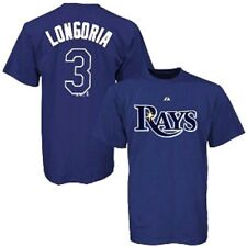 TAMPA BAY RAYS EVAN LONGORIA PLAYER NAME & NUMBER MAJESTIC JERSEY SHIRT