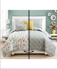 Reversible Quilt Sets 5-Pc Shams Decorative Pillows Bedding Bed Queen King Full