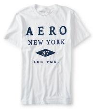 AEROPOSTALE MENS T-SHIRT EMBROIDERED LOGO AERO NEW YORK TEE SHIRT APPLIQUE