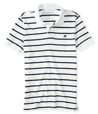 AEROPOSTALE MENS STRIPED POLO SHIRT TOP T-SHIRT NWT A87 LOGO JERSEY UNIFORM 6084