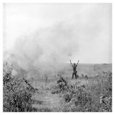 Vietnam War Soldier Directs UH-1 Helicopter For Injured Silver Halide Photo