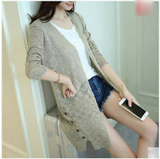 new spring autumn Korean fashion thin Hollow out knitting cardigan sweater coat