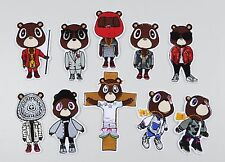 Kanye West Yeezy Bear inspired iron-on embroidery patches set FREESHIPPING