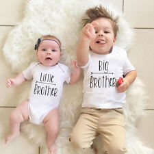 Kids Baby Boys Romper Bodysuit Big / Little Brother T-shirt Tops Outfits Family