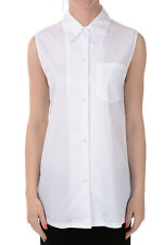 PRADA New Woman Popeline Cotton shirt blouse sleeveless Made in Italy NWT