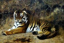 Tiger Painting by Jean-Leon Gerome Art Reproduction