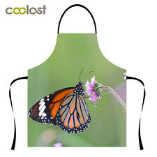 Butterfly Pattern Kitchen Apron High Quality Unisex Cooking Pinafore Free Size
