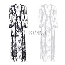 PLUS SIZE Sexy Women's Lingerie Sleepwear Nightwear Lace Robe Hot Gown Babydoll