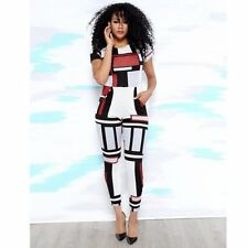 2016 New Style Sexy Club Jumpsuits Short Sleeve Print Back Zip Rompers Womens
