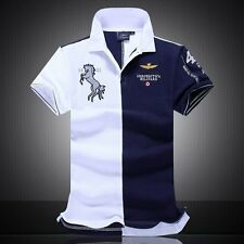 2016 summer new men's boutique embroidery breathable 100% cotton polo shirt
