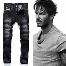 Black Printed Jeans Men Fashion Designer Logo Brand Jeans Trousers High quality