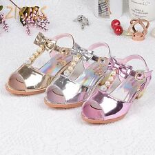 Breathable Patent Leather Sandal for Girls Kids Non-Slip Fish Mouth Girls Shoes