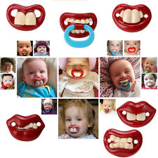 New Baby Funny Bucktooth Dummy Pacifier Soother Baby Toddler Joke Prank Pacifier