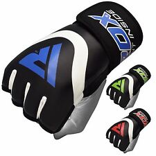 RDX Leather Boxing Inner MMA Gloves Grappling Fighting Punching Training UFC CA