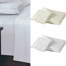 250 Thread Count 100% Egyptian Cotton Sateen Stripe Fitted Sheet – Bedding