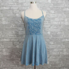 New Abercrombie & Fitch Womens Bailey Knit Skater Dress Blue Navy