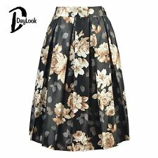 DayLook Summer Chic Vintage Black Floral Fashion Skirts Womens Pleated Tutu